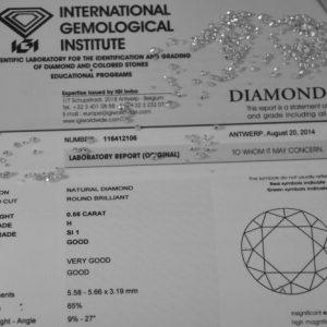 La certificazione GIA dei diamanti che ne attesta il valore