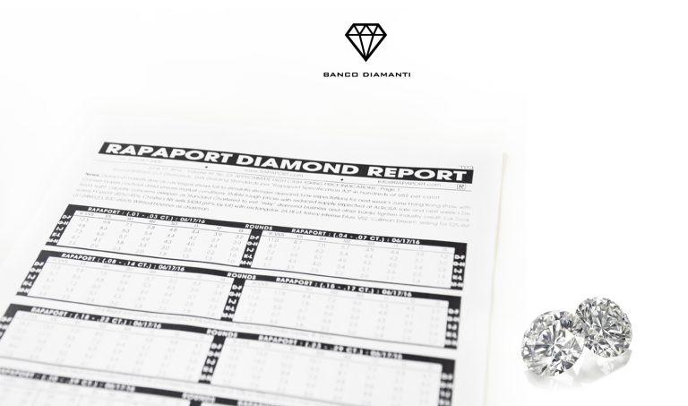 Le quotazioni Rapaport dei diamanti
