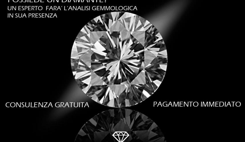 Per vendere un diamante smontato scegliete la professionalità di Banco Diamanti