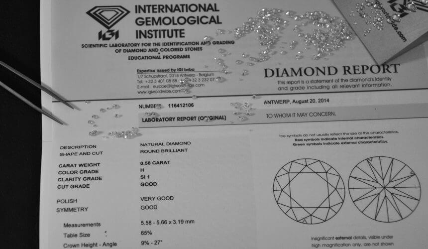 Quotazione dei diamanti certificati IGI: come avviene e a chi affidarsi